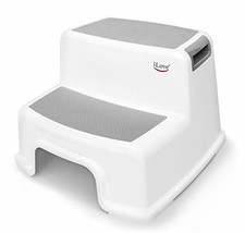 Wide+ 2 Step Stool for Kids | Toddler Stool for Toilet Potty Training | Slip Res
