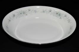 Noritake Inverness 6716  Blue Flower Pattern Oval Vegetable Serving Bowl  - $29.70
