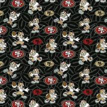 NFL SAN FRANCISCO 49ers LOGO 100% COTTON FABRIC FAST SHIP 1/2 YARD - (18... - $13.36