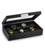 Glenor Co Watch Box for Men - 12 Slot Luxury Carbon Fiber Design Display... - $39.75