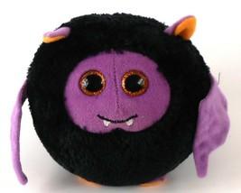 Ty Beanie Ballz BATTY the Bat Black & Purple 4.5 in Round Halloween Bean... - $7.91