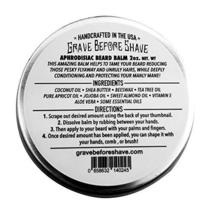 GRAVE BEFORE SHAVE Leather/Cedar wood scent Beard Balm 2 oz. Tin image 2