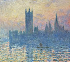 The Houses of Parliament, Sunset Painting by Claude Monet Art Reproduction - $32.99+