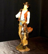 Tall Ceramic Cowboy Statue AA20-2235 Vintage Collectible Figurine