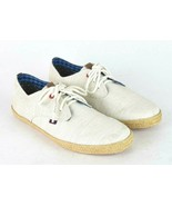 Ben Sherman Off White Canvas Sneakers Tennis Shoes Low Ankle Womens US 1... - $19.79