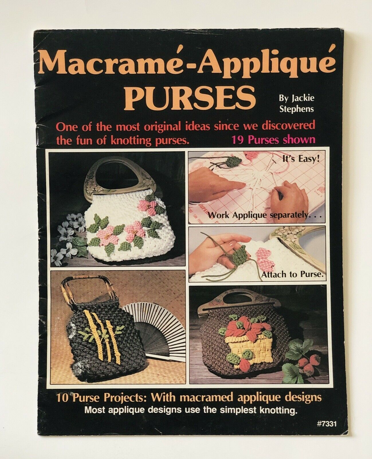 Macrame Appliqué Purses Guide Book By Jackie Stephens 19 Knotting Patterns Ideas