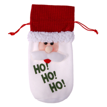(as show)Wine Bottle Cover Bags Christmas Decoration for Home Santa Clau... - $14.00