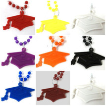 30  Mortarboard Cap Tassel Graduation Mardi Gras Bead Necklaces - $49.99