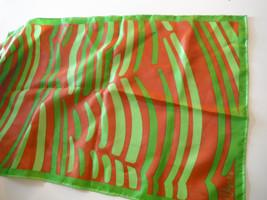Vtg.HTF Vera Neumann Scarf  Green Animal like - pattern Wrap RARE  ッ w/F... - $29.70