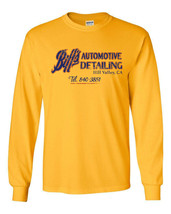 468 Biff's Auto Detail Long Sleeve Shirt back mcfly future 80s movie automotive - $19.99+