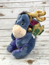 "Eeyore Plush Winnie The Pooh Reindeer Jingle Bells Stuffed Animal 12"" Christmas  - $46.71"