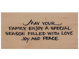 Stampendous 2006 Family Season Wood Mounted Rubber Stamp #L187