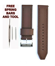 ME1122 24mm Brown Leather Watch Strap Band FSL114 Fossil - $28.71
