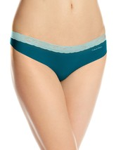 Calvin Klein Invisibles with Lace Thong Panty Glazed Extra Large - $11.87
