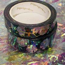SEALED Papergeek Paper Geek 2x Black Floral Constellation Washi Tape 33' Each image 4