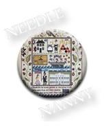 Heritage Sampler Needle Nanny cross stitch Plum Street Samplers - $12.00