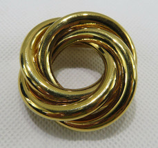 "Vintage Costume Jewelry Brooch Napier Gold Tone 2""3/4 diameter - $35.00"
