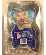 Reynolds Easter Bunny Fun Shapes Foil Disposable Cake Pans Set of 2 with... - $10.00