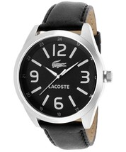 Lacoste Montreal Men's Black and Silver Watch 2010616 - $168.29