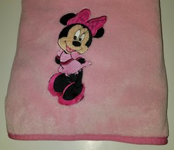 "Minnie Mouse Disney Baby Pink Fleece Security Blanket Lovey SOFT 30"" x 40"" - $34.60"