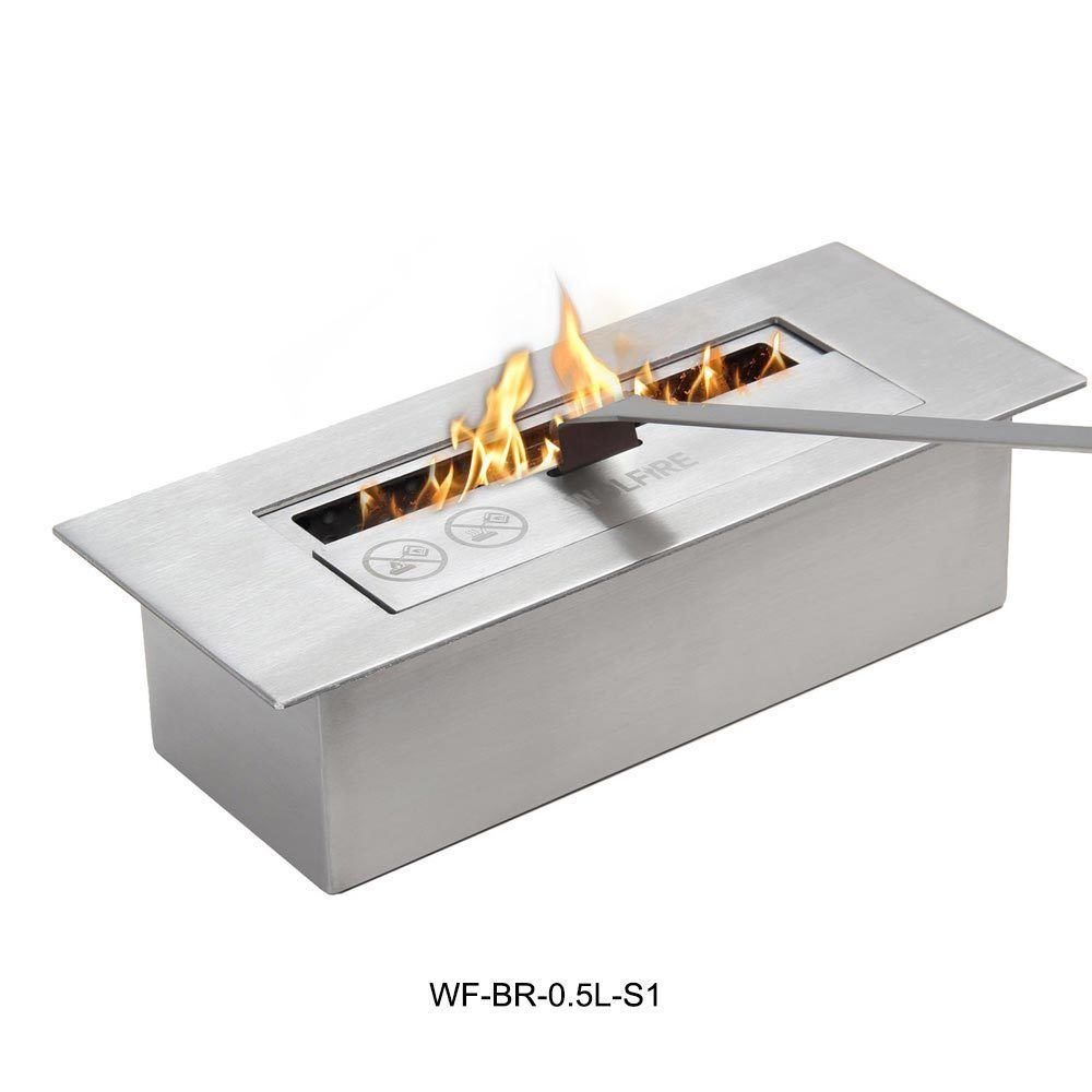 Home Decor Bio Ethanol Fireplace Table Top 0.5L Burner Insert