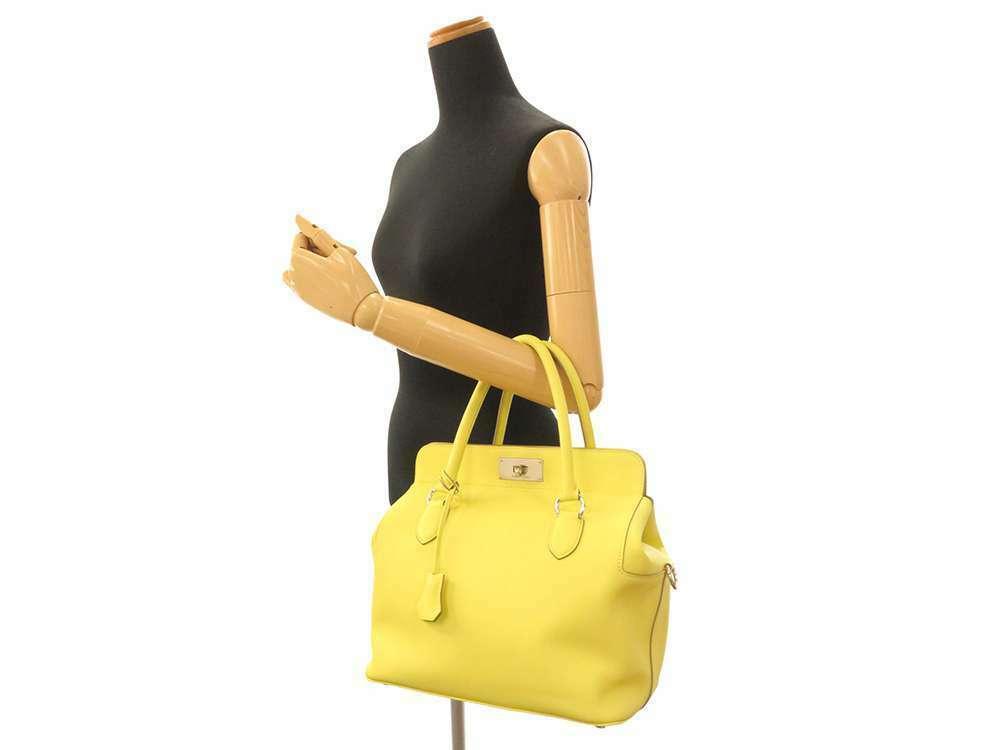 HERMES Toolbox 26 Veau Swift Soufre Handbag Shoulder Bag France #Q Authentic image 12