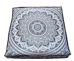 Traditional Jaipur Square Ombre Mandala Floor Cushion Decorative Throw P... - $19.79