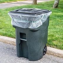 "ToughBag 95 Gallon Trash Bags, 1.5 Mil, Clear, 61""W x 68""H, 25 / Case - $24.26"