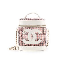 RARE 2019 AUTH CHANEL PINK CC VANITY CASE BAG FULL SET
