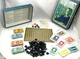 Vintage 1966 3M Bookshelf Acquire High Finance Board Game Aquire Complete - $27.04