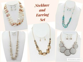 FASHION NECKLACE AND EARRING SET - $12.00+