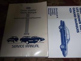 1992 Ford Krone Victoria Mercury Grand Marquis Service Reparatur Shop Manual Set - $139.03