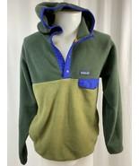 Vintage Patagonia Synchilla 2 Toned Fleece Snap-T, Men's M, Green w/ Blu... - $94.99