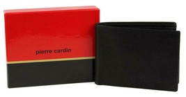 BRAND NEW PIERRE CARDIN MEN'S LEATHER CREDIT CARD WALLET PASSCASE BLACK 5971-01