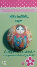 Matryoshka #5 Needleminder fabric cross stitch needle accessory - $7.00