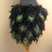 240gm Peacock Feather Train Bustle with Quick Release Elastic Waistband - $114.99