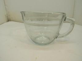 Vintage Pampered Chef 4 Cup 1 Quart Glass Measuring Mixing Batter Bowl - $12.86