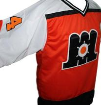 Any Name Number Maine Mariners Retro Hockey Jersey Orange Any Size image 4