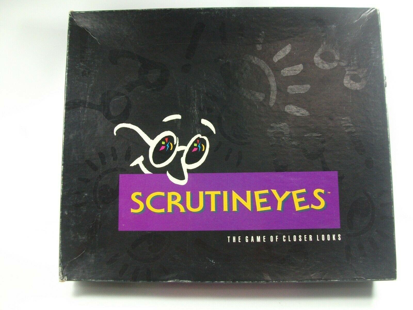 Scrutineyes Adult Game of Closer Looks Complete Vintage 1992 Mattel Board Game - $30.16
