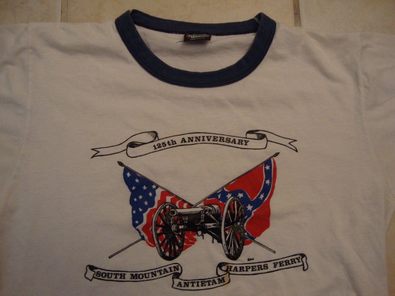 Primary image for Vintage 125th Anniversary South Mountain Antietam Harpers Ferry T Shirt Size L