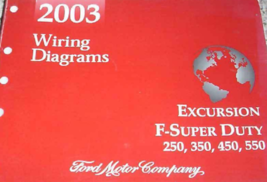 2003 Ford EXCURSION F-250 F350 F250 450 550 Wiring Electrical Diagram Ma... - $49.45