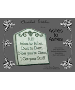 Ashes to Ashes Limited Edition Kit halloween cross stitch Cherished Stit... - $23.40