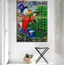 "Alec Monopoly Print on Canvas Graffiti art Money Paint 20x30"" - $25.73"