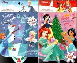 Holiday Christmas Sticker Books - Disney Princess and Frozen 125 Stickers! (Set  - $14.84