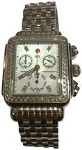 Michele Silver Deco Diamond Chronograph Women's MWW06P000099 Watch - $1,650.00