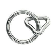 "U-1-1/2"" X 6 Mm Hilason Western Horse Tack Ring With Loop Nickel Plated U-72NP - $8.86+"