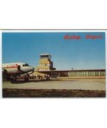 Bishop Airport Plane Flint Michigan postcard - $6.44