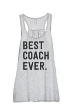 Thread Tank Best Coach Ever Women's Sleeveless Flowy Racerback Tank Top ... - $24.99+