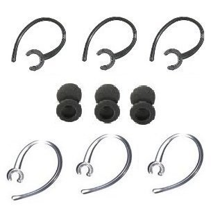 12 Pc Lg Hbm235, Lg 235 Ear Hooks / Foam Buds Repair Set Compatible (3-black, 3-