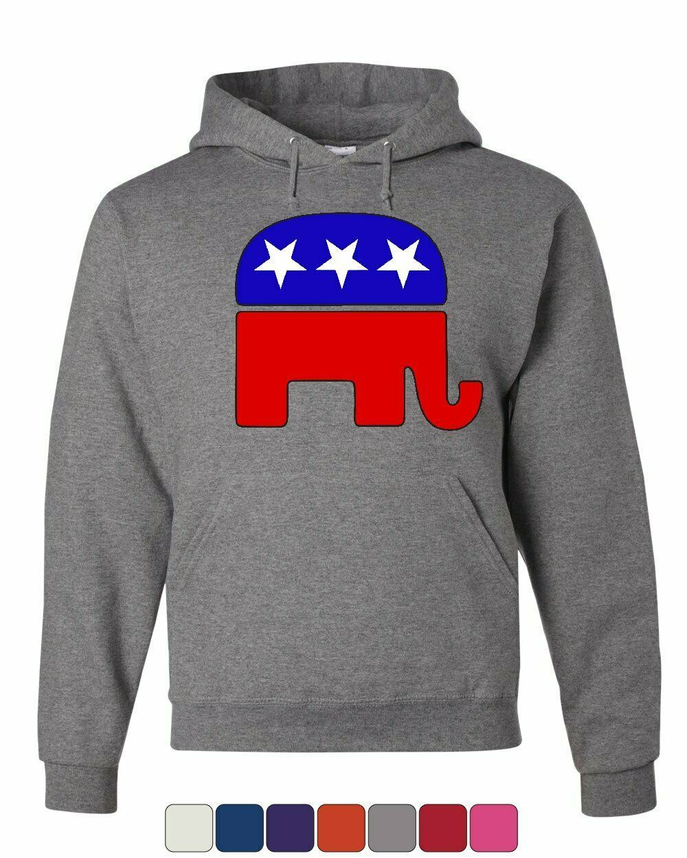 Republican Party Elephant Logo Hoodie Political Conservative Sweatshirt - $23.72 - $37.99